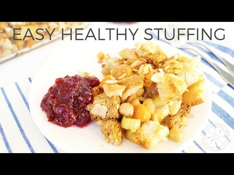 Easy Healthy Stuffing Recipe | Thanksgiving Bread Dressing | Healthy Grocery Girl
