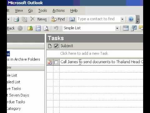 Microsoft Office Outlook 2003 Schedule time in Calendar to complete a task