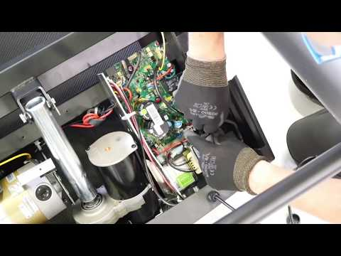 How to change the front motor cover on a Climb treadmill ?