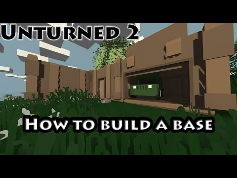 Unturned | How to build a base step by step | + All crafting recipes! [50% only on v2.0]
