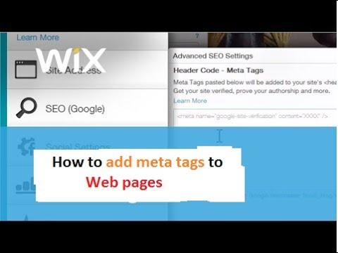 How to add meta tags in WIX website