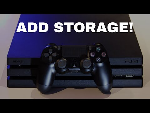 HOW TO ADD MORE STORAGE SPACE TO YOUR PS4!