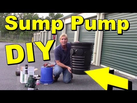 How To Set Up SUMP PUMP and Sump Pit for your Crawlsapce.