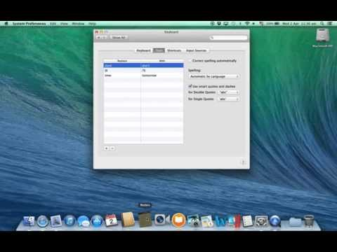 Mac OS X - Keyboard text shortcuts