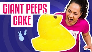 How To Make a Easter GIANT PEEP CAKE | With Yellow Velvet Cake | Yolanda Gampp | How To Cake It