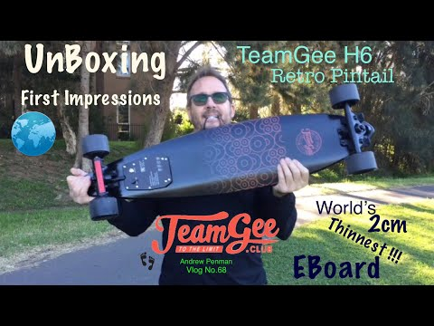 TeamGee H6 Retro EBoard Unboxing and First Impressions Andrew Penman EBoard Reviews Vlog No 68