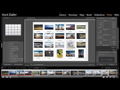 Create a PDF Contact Sheet in Lightroom using a Mac Computer