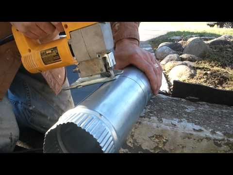 Cutting a Dryer Vent Pipe