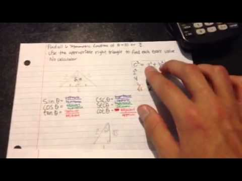 How to find the 6 trig functions of pi/6