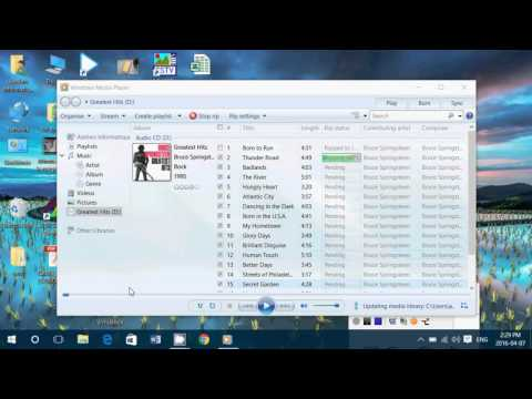 Windows 7 8.1 10 How to Extract your music CD collection using Windows Media Player