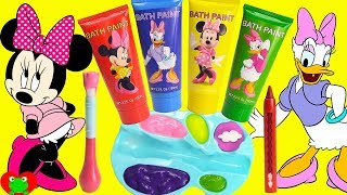 Minnie Mouse And Daisy Play With Paints And Dress Up