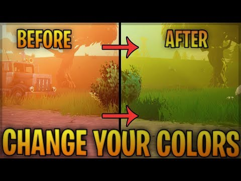 How To Change Your Fortnite Colors/Saturation/Hue/Color Blind   Using Nvidia /Geforce
