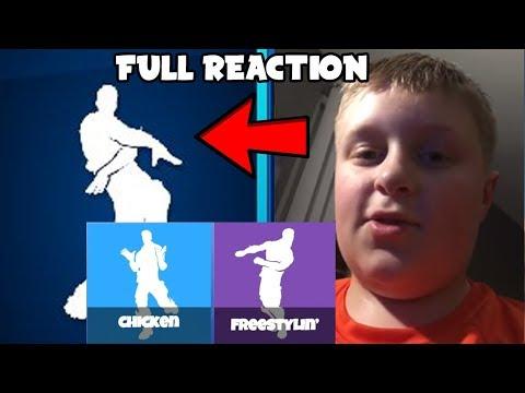 *2 NEW Leaked Fortnite Emotes* Orange Shirt Kid Full Reaction To Orange Justice! (Original Fortnite)