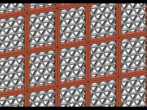 Adaptive Component/Family (Jhali Wall) in Revit