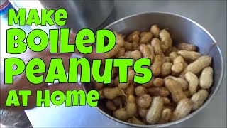 A Southern Favorite Boiled Peanuts