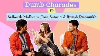 Sidharth Malhotra, Tara Sutaria & Riteish Deshmukh play the HILARIOUS round of