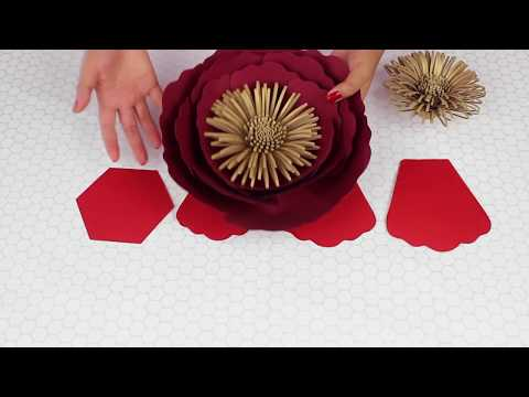 Paper Flower Tutorial | Template #16