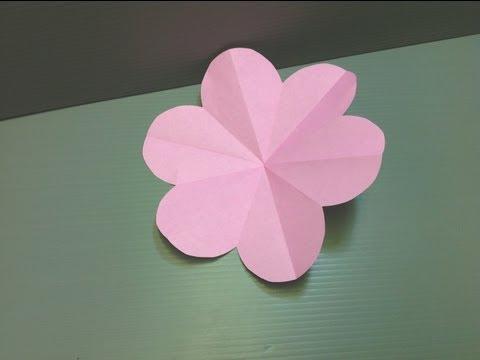 Origami Peach Blossom Flower - Easy Kirigami