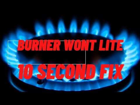 🔥 Gas Burner Won't Light -- SUPER EASY 10 Second FIX 🔥