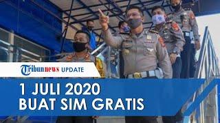 HUT Bhayangkara, Polri Gartiskan Biaya Buat SIM 1 Juli 2020, Warga Yogyakarta bisa di Semua Satpas