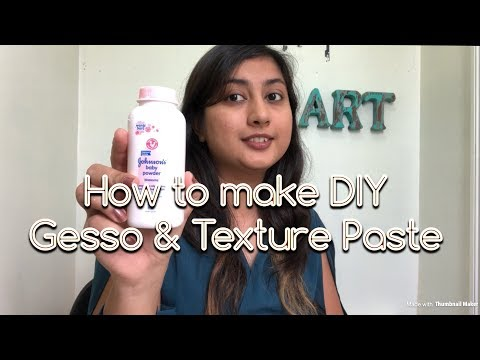 how to make your home made Gesso & Texture paste | DIY gesso & texturepaste | Payal Bhalani
