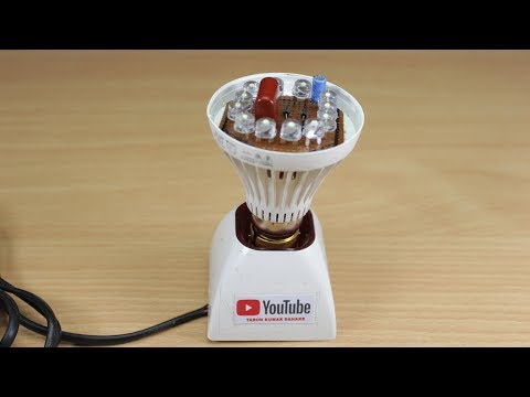 How to make NEW LED Light Bulb Reuse Old LED Bulb