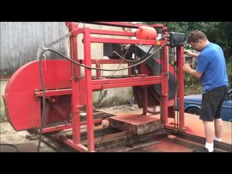 Cutting Camphor Burl on the Linn lumber mill