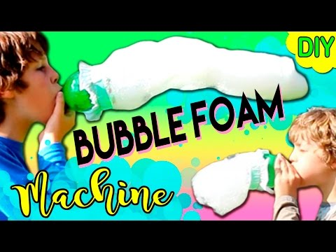 BUBBLE FOAM machine * DIY HOMEMADE Bubbles MACHINE