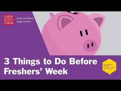 3 Things To Do Before Freshers Week