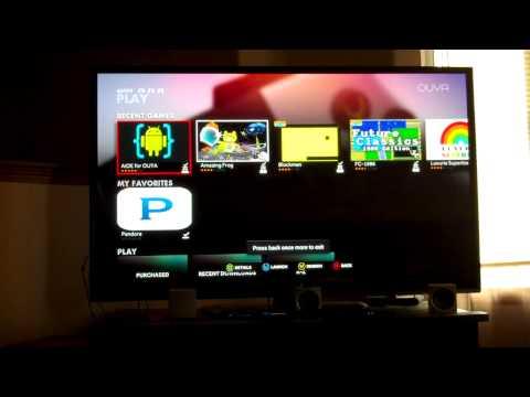 FireTV Pandora app running on OUYA... Keeps playing in background during menu and games