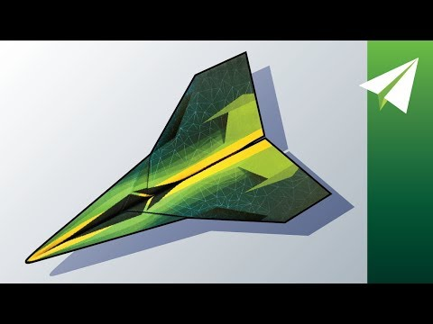 Awesome Paper Airplane with Locked Folds — How to Make Invictus