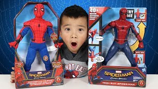 NEW Spider-Man Homecoming Toys Unboxing Tech Suit And Webwing Spidey Ckn Toys