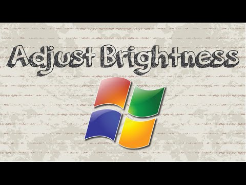 How to adjust screen brightness on Windows 7
