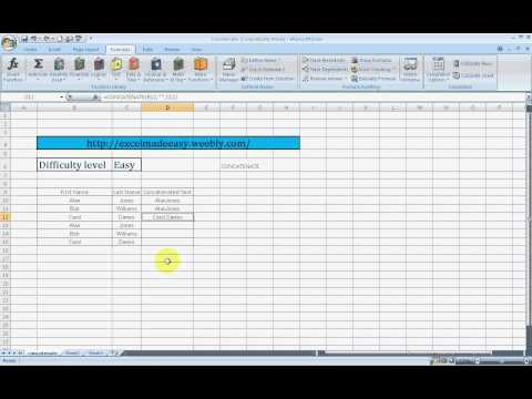 Concatenate Formula | Join text in Excel