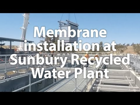 Time lapse: Membrane installation at Sunbury Recycled Water Plant