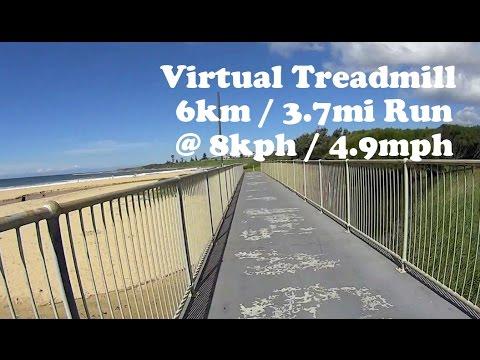 Virtual Treadmill Run - Bulli Beach, NSW Australia - 6km / 3.7mi @ 8kph /4.9mph