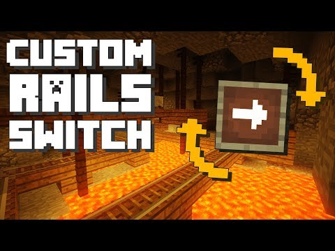 Minecraft: Custom Rails Switch [Command Block Tutorial]