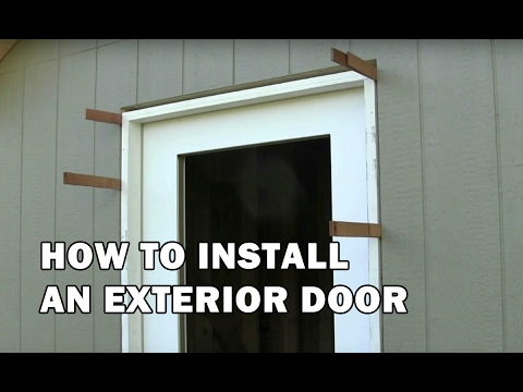 How to Build a Shed - How To Install a Door - Video 14 of 15
