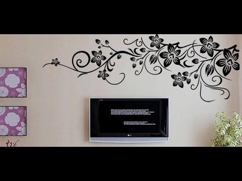 DIY monograph Flower Wall Decal Sticker