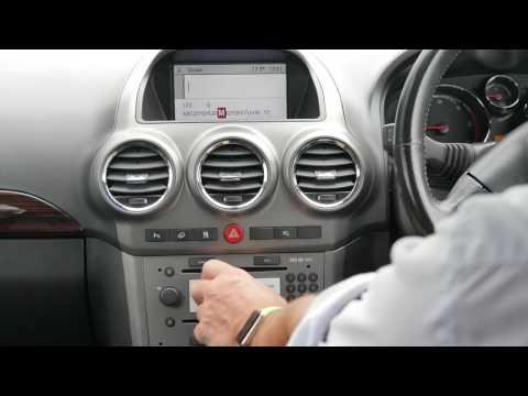How to set the Sat Nav in a 2007 57 VAUXHALL ANTARA 2 0 CDTi 16v SE Auto