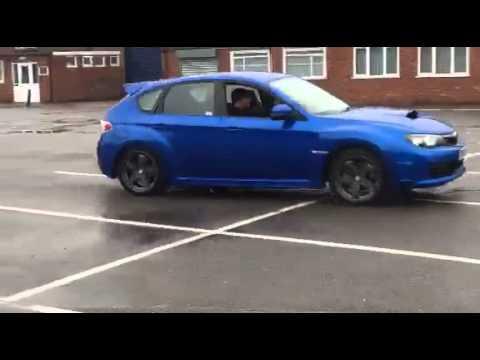 Subaru wrx sti hatchback drifting