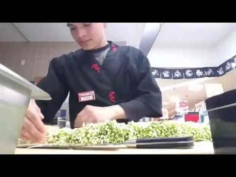 How to cut Cucumber to Make Sushi Rolls
