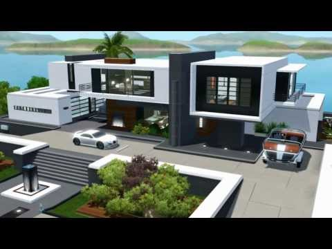 The Sims 3 Seaside Modern House NO CC
