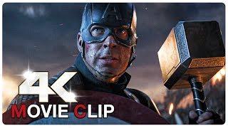 Download Captain America Lifts Thor's Hammer Mjolnir Scene - AVENGERS 4 ENDGAME (2019) Movie CLIP 4K Video