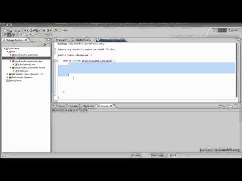 Spring Tutorial 37 - Using JDBC without Spring