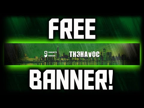 How To Make A FREE YouTube Banner! (NO PHOTOSHOP) How To Make A YouTube Banner WITHOUT Photoshop