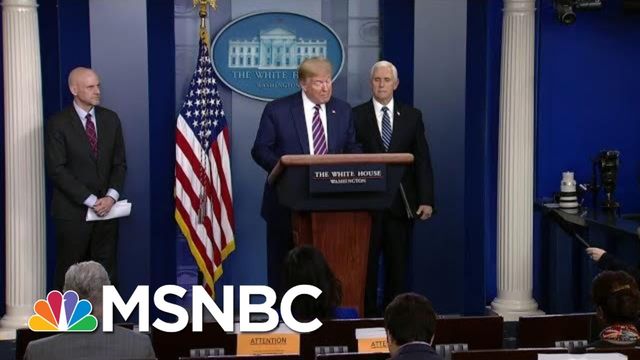 'Caught': Trump Flees His Own Briefing After Getting Busted For Toxic Misinformation | MSNBC