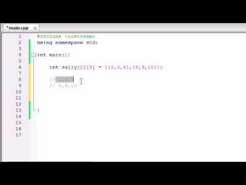 Buckys C++ Programming Tutorials - 36 - Multidimensional Arrays