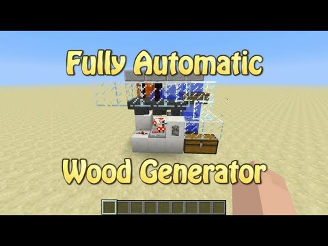 Fully Automatic Wood Generator For Minecraft 1.5.1 (Tutorial)