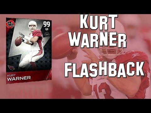 Madden 15 Ultimate Team- MUT 15 Card Review- 99 Overall Flashback Kurt Warner